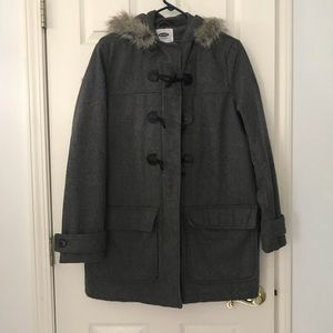 Old Navy Fur Lined Hooded Jacket